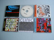 CLINIC job lot of 6 promo DVD/CDs Bubblegum Tomorrow Seamless Boogie Woogie
