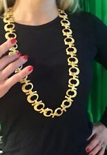 "18K  YG  CONTEMPORARY  34.5""   NECKLACE   . . .    242  GRAMS"