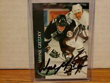 1992-93 Parkhurst Kings Hockey Card #65 Wayne Gretzky signed COA