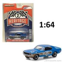 GREENLIGHT 13220 E 1968 FORD MUSTANG AS #33 J. MCCOMB BLUE DIECAST CAR 1:64