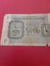 British Military Authority 1 Shilling Note