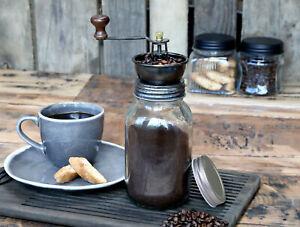 nostalgische Kaffeemühle von Chic Antique, Glas mit Metall Shabby Landhaus