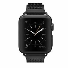 NooMoon E-FPS-00708 Straps 42mm Apple Watch Black-Black Buckleless Strap