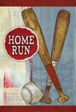 Toland Home Run 12.5 x 18 Inch Baseball Bat and Ball Garden Flag