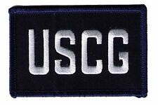 "Hook/Loop Coast Guard Uscg initials Sid-V-Dvo blue/white 3.5""x2.25"" patch"