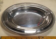 Vintage Crescent Silverware Mfg. Co. No. 3157 Silver Serving Dish! Nice Shape!