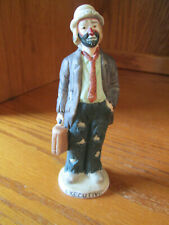 "Emmett Kelly Jr. Executive Boss Flambro Figurine 4 1/2"" Tall"