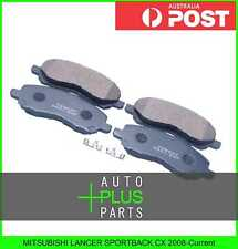 Fits MITSUBISHI LANCER SPORTBACK CX 2008-Current - Brake Pads Disc Brake (Front)