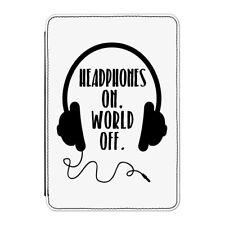 """Cuffie sul mondo off Case Cover Per Kindle 6"""" e-reader-Divertente Musica DJ"""