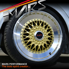 MARS MP-RS 18 inch Gold Mesh Face Polished lip Stag Alloy Wheels Rims 5x120 BBS