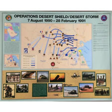 """Us Army Desert Storm Battle Map 30"""" x 24 Us Army Center of Military History"""