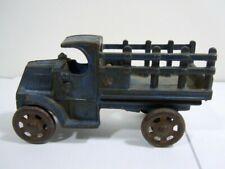 Original 1920's Hubley Cast Iron Mack Stake Truck- Cast Iron Wheels