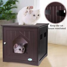 Cat Litter Box Furniture Hidden End Table Nightstand Cat Washroom Pet Enclosure