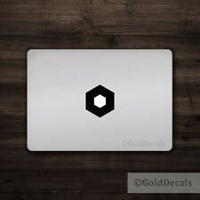 Hexagon - Mac Apple Logo Cover Laptop Vinyl Decal Sticker Macbook Decal Shape