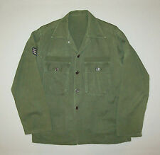 Old vtg 1950s 60s Post Wwii Vietnam War Us Army Usaf Fatigue Shirt Star Buttons