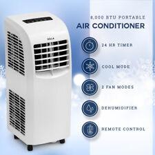 Portable Air Conditioner Cooler Dehumidifier Window Kit AC Remote Timer 8,000BTU