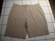 ADIDAS ClimaLite Golf Shorts Beige Polyester Spandex Mens Size 38