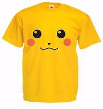 PIKACHU POKEMON Go Kid's yellow 100% Cotton crew neck  TV cartoon T Shirt