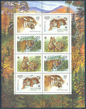 Russia 1993 Fauna. WWF. Tigers, mini sheet, MNH