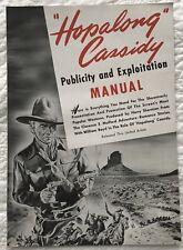 HOPALONG CASSIDY  PUBLICITY AND EXPLOITATION MANUAL  WESTERN MOVIE