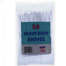 50 Clear Knives Plastic Strong Heavy Duty Disposable Food Use Party Sku222p