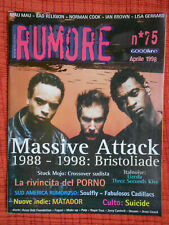 Rivista RUMORE 75/1998 Massive Attack Ian Brown Norman Cook Lisa Gerrard *No*cd