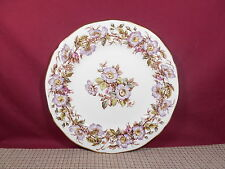 Adderley Fine China Briar Rose Purple Pattern Dinner Plate 10 3/8""