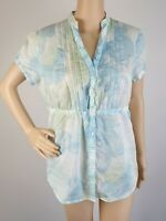 Esprit Floral Short Sleeve Casual Office Button Down Shirt / Size 14