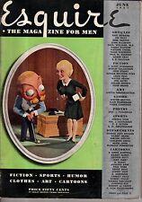 1937 Esquire June - F Scott Fitzgerald; Charlie Chaplin; Terechkovitch Art;