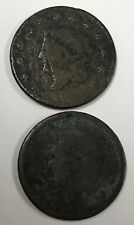 Large Cent No Date Lot Of 2