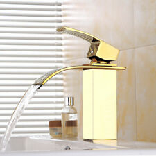 Modern Bathroom Basin Mixer Sink Taps Waterfall Hot and cold  Brass Faucet Tap