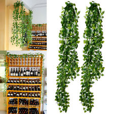 12 Faux Fake Foliage Garland Leaves Decoration Artificial Green Ivy Vine Hanging