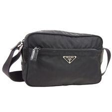 PRADA Logos Shoulder Bag Black Nylon Authentic #58 MV28 NERO BT17364