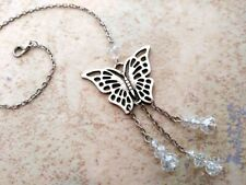 Butterfly Dream-catcher Style Dangling Crystal Sun-catcher Car Charm Ornament US
