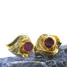 Echtschmuck im Ohrstecker-Stil aus Gelbgold mit Diamanten-Ohrschmuck für Damen