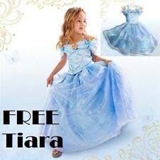 Cinderella Party Short Sleeve Dresses (2-16 Years) for Girls