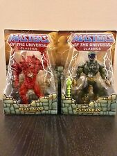 Power-Con Exclusive Red Beast Man + Camo Khan + Posters MOTUC MOTU Classics