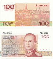 Luxembourg / Luxemburg - 100 Francs 1986 UNC - Pick 58b, Serie P