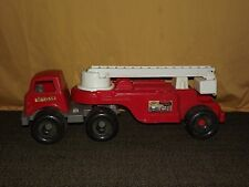 "VINTAGE LARGE 29"" LONG AMERICAN PLASTIC TOYS CO. 15 FIRE TRUCK"