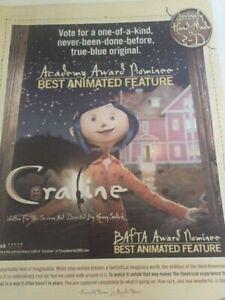 Coraline Smiling  true-blue original OSCAR AD
