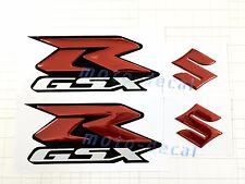 New Raised 3D Chrome Suzuki GSXR 600 750 GSXR1000 Red Decal Emblem Sticker Bling