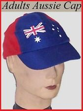 Adults AUSSIE Flag CAP HAT Australia Commonwealth Olympic Sports BBQ Party NEW