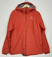 Arc'teryx Womens Size XL Burnt Orange Insulated Gore Windstopper Jacket