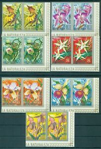 EQUATORIAL GUINEA*1974* compl.set 7X2 stamps IMP.*MNH**Orchids -Mi.No A428-434KB
