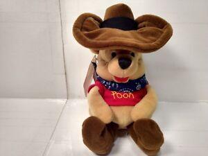 "Winnie The Pooh Western Cowboy Mini Bean Bag 8"" Stuffed Animal t1957"