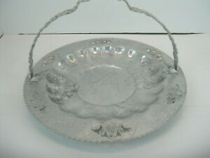 """Vintage Forman 4 Family Aluminum 11"""" Serving Dish with Handle"""