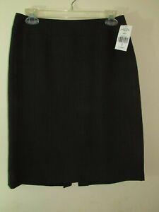 Tahari ASL Womens Charcoal Grey Black Business Office Pencil Skirt Petites 4P