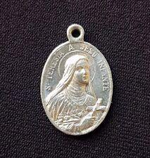 Fantastic Saint Teresa medal - Pendant - Charm - Medalla - Blessed - Silver