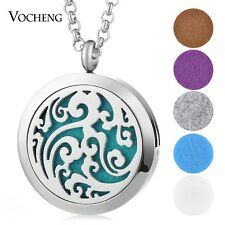 Aromatherapy Diffuser Locket Necklace Stainless Steel Random 5pcs Oil Pad VA-267