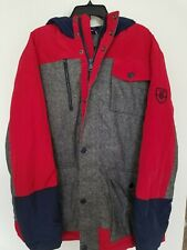 Tommy Hilfiger Mens XXL Gray Red Blue Winter ColdStop 60/40 Down Jacket NWT